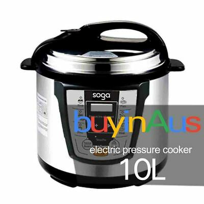 New Soga 10L Electric Pressure Cooker Stainless Steel Multi Function 1000W