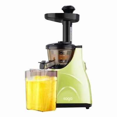 New SOGA Cordless Stainless Steel Cold Press Slow Juicer Fruit Vegetable Green