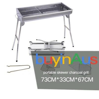 Portable SOGA Skewers Grill Portable Stainless Steel Charcoal Box 2-8 Persons