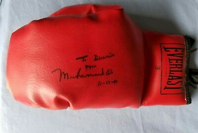 Muhammad Ali signed boxing glove, inscribed to & owned by DENNIS RODMAN, JSA LOA
