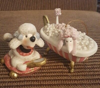 Collectible Poodle Ornament Lot, Excellent