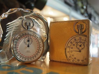 Arco / 7 Jewel Stopwatch In Original Box - Swiss Made / Aussie Stock !