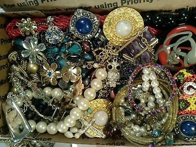 Vintage to Now Estate Sale Jewelry Craft Lot Unsearched