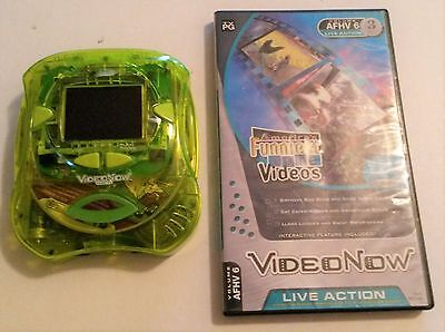 "Video Now Color FX Personal Video Player ""Fresh Green"" Hasbro Tiger Electronics"