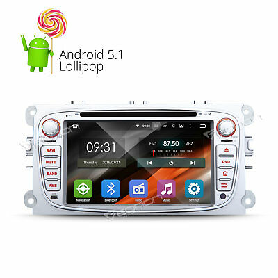 """2DIN 7""""Android Car Stereo DVD GPS Navigation Radio DAB+ For Ford Mondeo Focus B"""