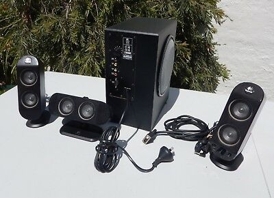 Multimedia Logitec PC sound system 5.1 system without rear speakers