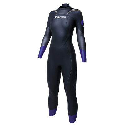 Zone3 Aspire Womens Wesuit Size SM, Used, hole and a smaller mark Black/Purple/