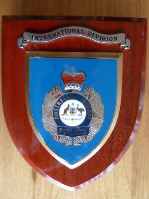 Plaque AFP Australian Federal Police International Div collectable memorabilia