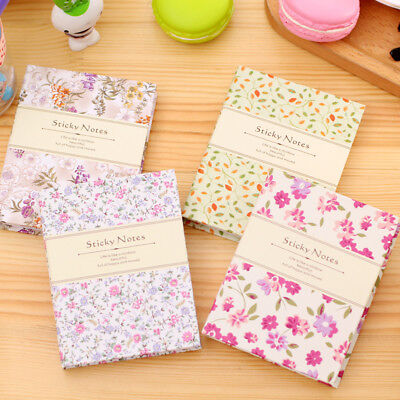 1PC New Floral Combination Notebook Flower Sticky Note Notepad Post It Memo Pad