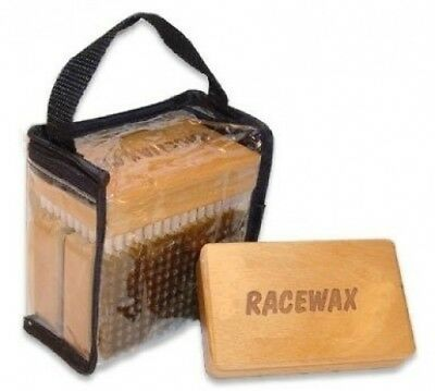 3 Brush Kit Set of Three, Nylon HorseHair Brass Ski Snowboard. RaceWax