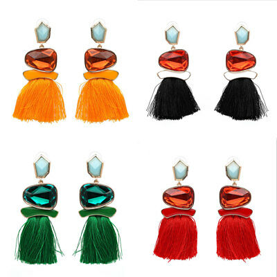 Fashion Vintage Ethnic Boho Tassel Hook Drop Dangle Earrings Women Lady Jewelry