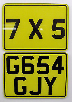 "SMALL BIKE / MOTORCYCLE NUMBER PLATE 7""x5"" SHOW PLATES"