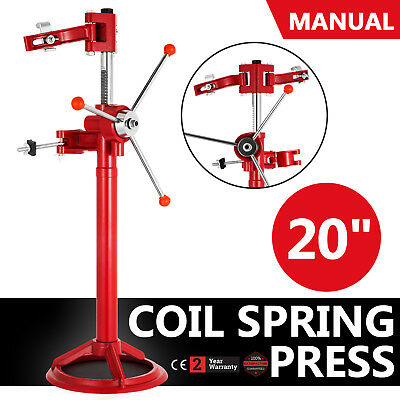"""20"""" Hand Operate Strut Coil Spring Press Compressor Auto 8"""" Red Durable NEWEST"""