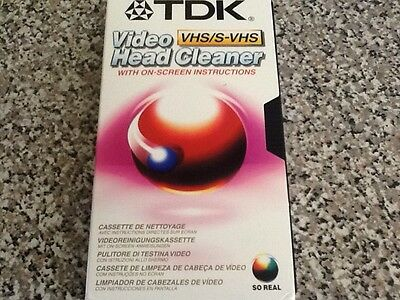 TDK Video Head Cleaner VHS/ S-VHS (NEW)