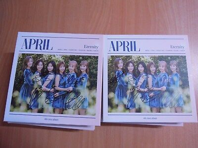 APRIL - Eternity (4th Mini Promo) with Autographed (Signed)