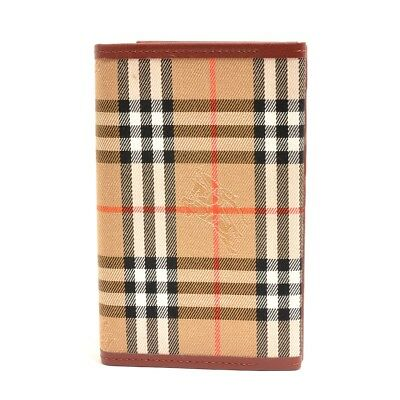 Authentic BURBERRY PVC coated canvas Tartan check notebook Notebook cover