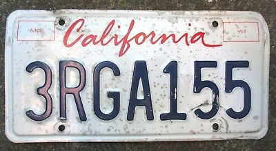 American license plate. California number plate - Cool looking Americana !!!