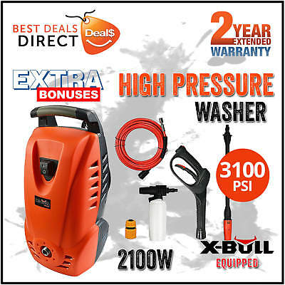 X-BULL 3100 Psi High Pressure Water Washer Cleaner Electric Gurney Pump 8M Hose
