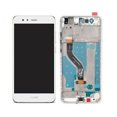 Display Lcd + Touch Screen Frame Vetro Vetrino Per Huawei P10 Lite Bianco White