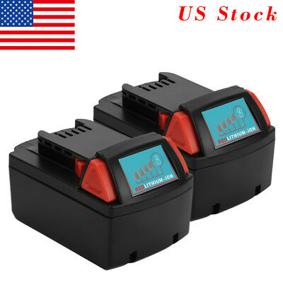 2-Pack For Milwaukee 48-11-1850 M18 18V Red Lithium XC 5.0 AH Battery 48-11-1852