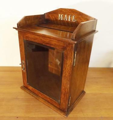 Quality Victorian Solid Tiger Oak Mail Box / Letters Box / Ballot Box c1900