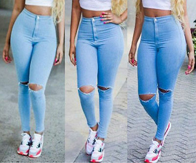 US Stock Women High Waist Slim Skinny Leggings Stretchy Jeggings Pencil Pants
