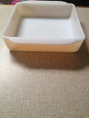 Vintage Fire King Peach Lustre Oven Proof Square Dish Reduced
