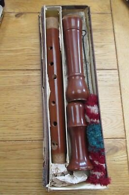 Vintage Treble or Alto Recorder By B&H - Wooden - USED - In FWO (Ref 79)