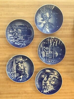 Lot of 5 1969 ~ 1973 Christmas Weihnachten Bareuther Bavaria Germany Plate