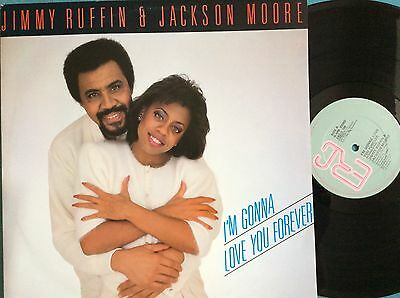 "JIMMY RUFFIN & JACKSON MOORE I'm Gonna Love You Forever 12"" vinyl record.  Ex"