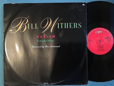 """BILL WITHERS ,   HARLEM, lovely day, 12""""  vinyl record,    ex"""