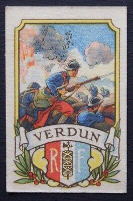 VERDUN Battle Series issued by MY WEEKLY in 1916 Silk with descriptive backing