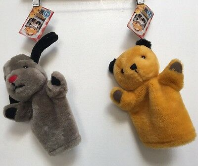 DX9 New Old Stock THE SOOTY SHOW SOOTY AND SWEEP PUPPETS SET TOYS Retro BNWT 00s