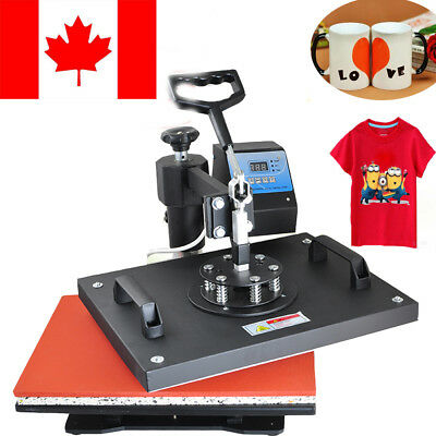 8 in1 Heat Press Printing Machine Transfer Sublimation T-Shirt Mug DIY Cap Gift