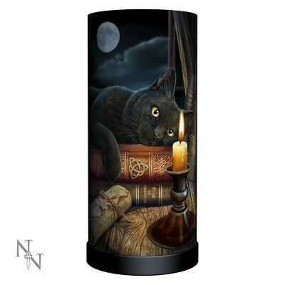 Witching Hour - Fantasy Gothic Cat Table Lamp by Lisa Parker 27.5cm