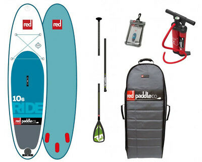 2017 Red Paddle Co SUP 10'6'' Ride + Glass-Nylon Travel Paddle + Titan Pump
