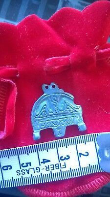 lovely celtic silver piece possibly amulet decorated, rare