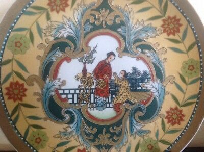 Antique Chinese Charger Hand Painted Royal Queen Superb