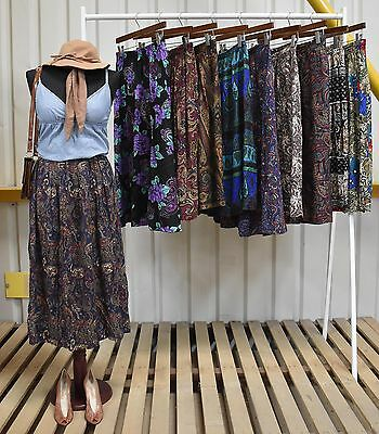 Job Lot 10 X Womens Vintage Paisley Skirts A Mix Of Styles And Fabrics (91)