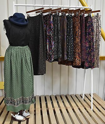Job Lot 10 X Womens Vintage Paisley Skirts A Mix Of Styles And Fabrics (92)
