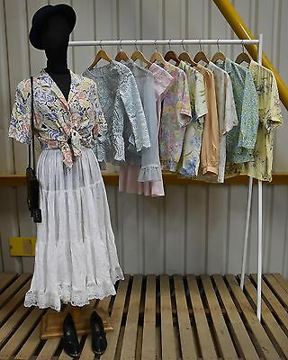 Job Lot 10 X  A Variety Of Vintage Womens Formal Pastel Blouses (86)