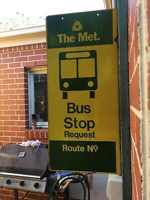 The Met Bus Stop Sign Baked Enamel Non Reflective