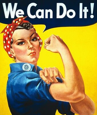 Grande Plaque We Can Do It -Rosie -Decoration Usa - 40X30 Cm -Pin-Up /vintage
