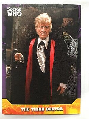 Topps Dr Who Signature Series The Third Doctor 01/10 Purple Parallel