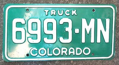 "American license plate. Colorado ""Truck"" number plate - Vintage Trucking !!!"