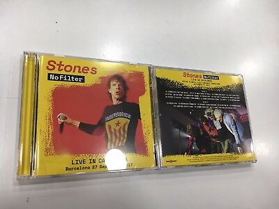 Rolling Stones 2 Cd Live In Catalonia Barcelona 27/09/2017 Independencia Cover