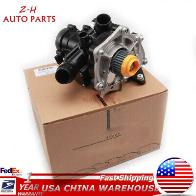 Electronic Water Pump Thermostat Assembly For VW GTI MK7 AUDI A3 A4 A5 1.8T/2.0T