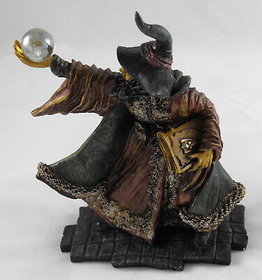Wizard Statue By Originalities Holding Crystal Ball Spells Magical Warlock New