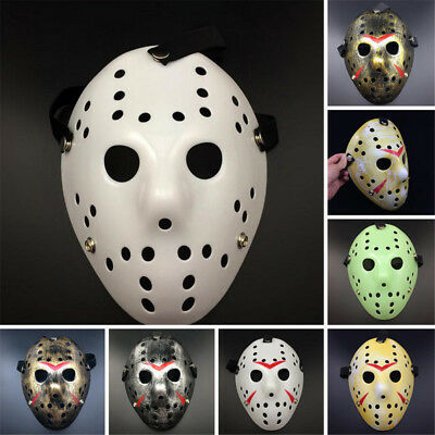 Halloween Jason Voorhees Mask Friday The 13th Horror Movie Hockey Costume Prop B