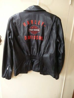 Harley Davidson Motive Small Womens leather looking Jacket